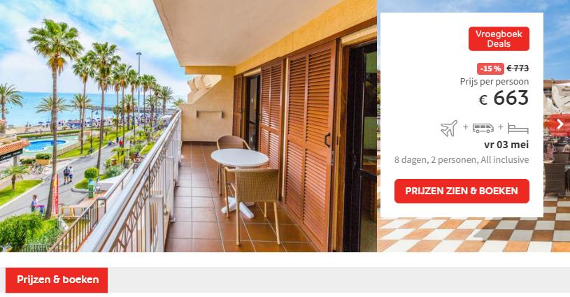 Prijs Appartementen Coral Compostela Beach