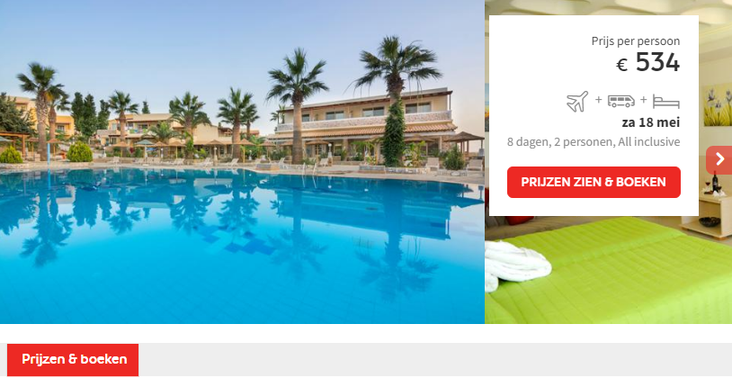 Prijs Hotel Kouros Palace