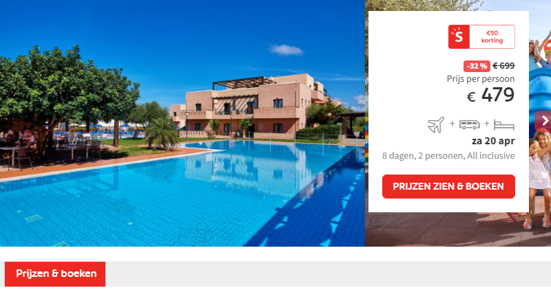 Prijs Hotel Vasia Resort & Spa