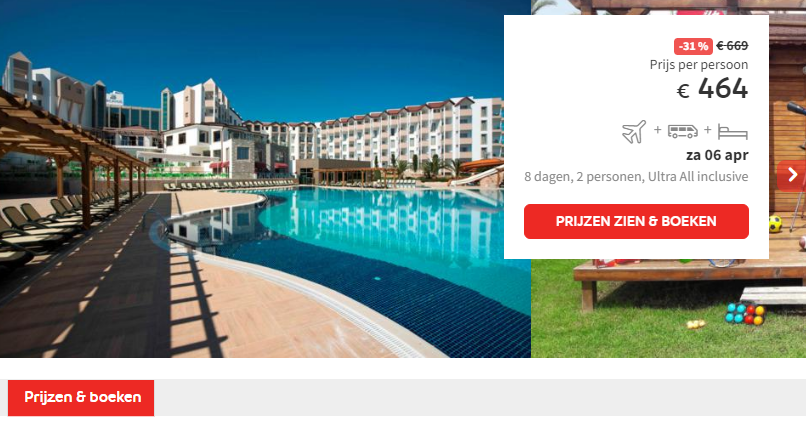 Prijs Xperience Hotel Arcanus Side Resort
