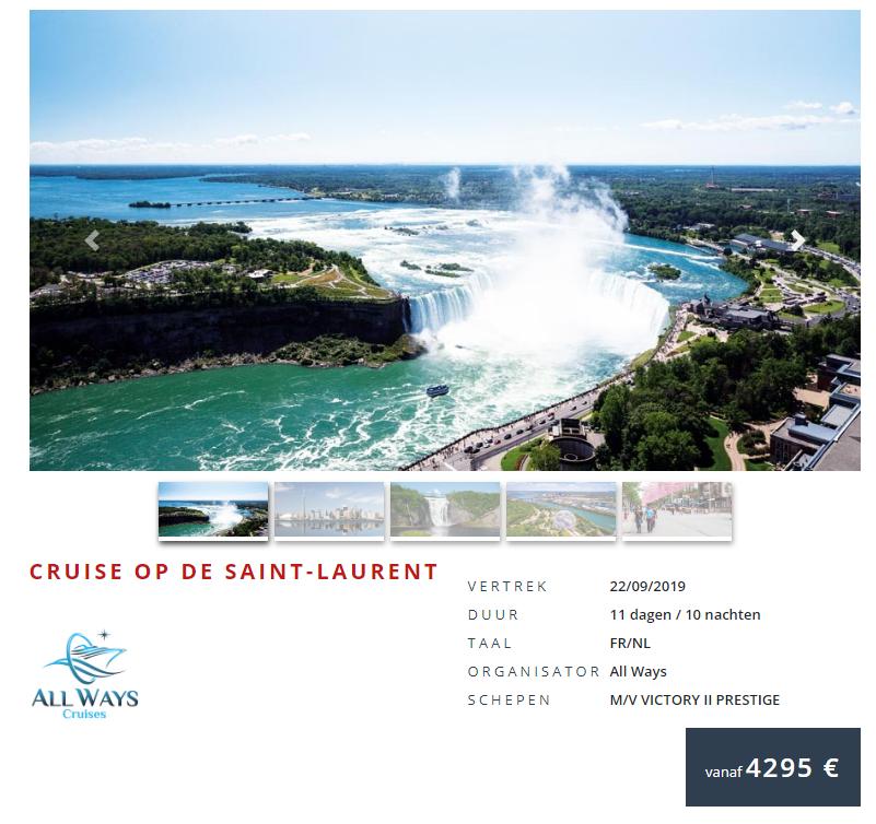 Prijs cruise Saint-Laurent