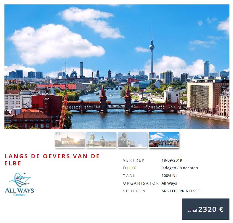Prijs cruise Elbe